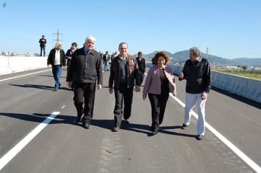 Bancada petista vistoriou as obras de duplicação da BR-101, em Tubarão, na manhã desta sexta-feira.