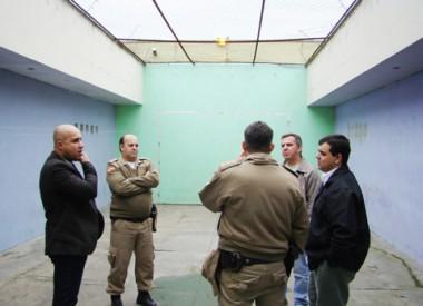 Representantes da segurança pública e da Faepesul vistoriaram o CIP de Tubarão ontem.