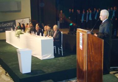 João Batista de Andrade realizou a abertura do 8º Seminário do Fórum Catarinense pela Preservação da Vida no Trânsito, na noite de  ontem, na Unisul.