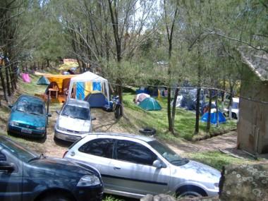 O camping é um dos lugares mais procurados por quem passa o fim de ano no litoral da Amurel.