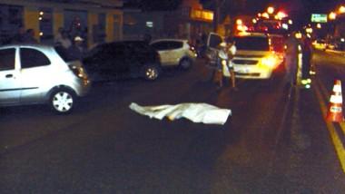 O acidente ocorreu na avenida mais movimentada de Jaguaruna.