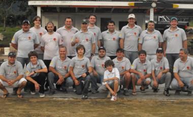 Os 22 integrantes do Clube Fly Norte já organizam todo o espaço que será utilizado durante o encontro.