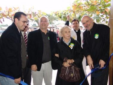 A inauguração do centro de atendimento contou a presença da família do médico Bráulio Escobar Filho.