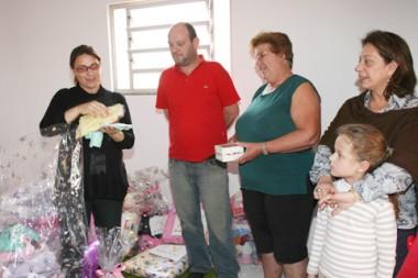 Néia e Deson ficaram extremamente agradecidos com a visita surpresa da primeira-dama do estado.