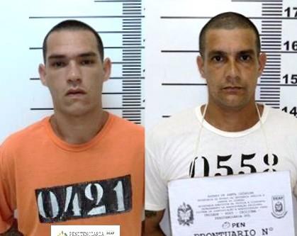Marcos Dário Siqueira (E), 25, cumpria pena por homicídio. Sidney Nunes (D) estava preso por assalto à mão armada.