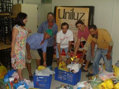 Na edição do ano passado do evento Uniluz, foram arrecadados cerca de 1,5 mil quilos de alimentos.