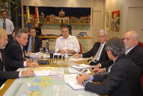 O prefeito Beto Martins apresentou o projeto de duplicação do acesso ao porto esta semana ao governador Raimundo Colombo