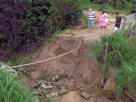 Em São Martinho, cinco casas ficaram isoladas. Uma das moradoras está grávida