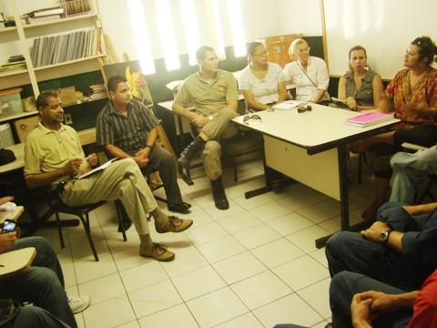 A reunião contou com representantes de diversas entidades do município.