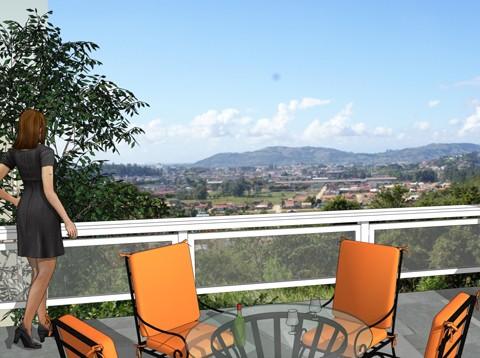 O loteamento Sol Nascente proporciona uma visão de 360º da região.