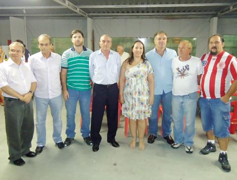 A diretoria do Hercílio Luz foi apresentada ontem à noite. No centro, o presidente Michel e a vice Andrea.
