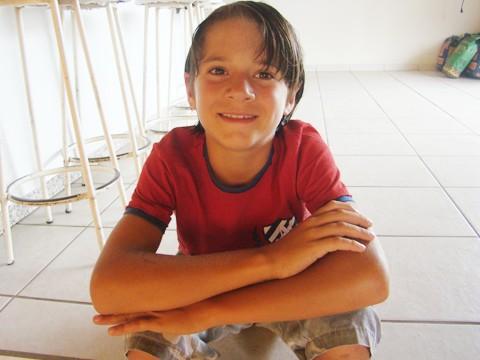 Samuel, apesar de tímido, mostrou no teste que tem garra e bom preparo físico.