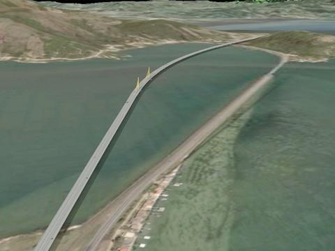 O projeto da nova ponte sobre o canal de Laranjeiras, na comunidade de Cabeçudas, em Laguna.