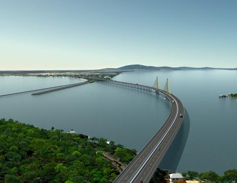 As obras de construção da nova ponte, em Laguna, ainda não começaram porque é preciso, antes, que o consórcio faça a dragagem da Lagoa de Santo Antônio dos Anjos e monte o canteiro de obras. Para isso, porém, são necessárias as licenças ambientais.