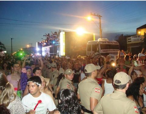 A presença de policiais foi intensa durante todos os dias e noites de Carnaval
