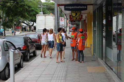 Na avenida Marechal Deodoro, o sistema de estacionamento rotativo está em vigor desde o dia 1º     -   Foto: Cristiano Soares/Prefeitura de Tubarão /Notisul