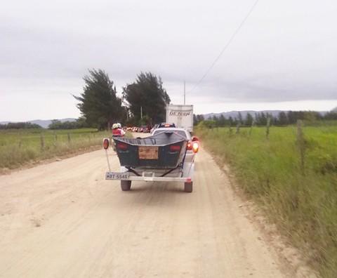 O trajeto entre Tubarão e Jaguaruna via bairro Congonhas é bastante procurado, especialmente no verão