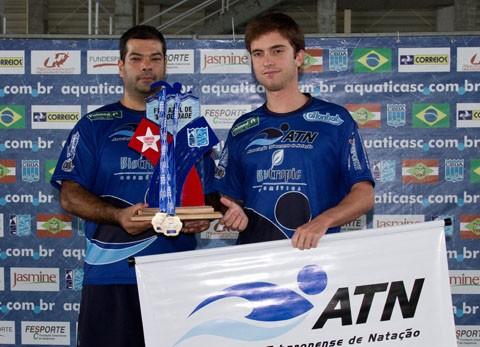 Os técnicos André e Eduardo representaram a ATN na premiação - Foto:ATN/Divulgação/Notisul