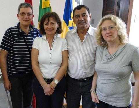 O prefeito Luiz Carlos Brunel Alves, levou os representantes da empresa italiana Nannaò para uma visita à cidade. Foto: Prefeitura de Capivari de Baixo/Divulgação/Notisul