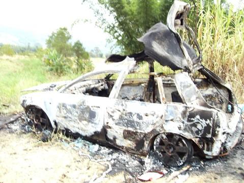 Os familiares procuravam Edson desde terça-feira. Seu corpo foi localizado ontem, em Imaruí, dentro do porta-malas do veículo. Foto: Polícia Militar de Imbituba/Divulgação/Notisul