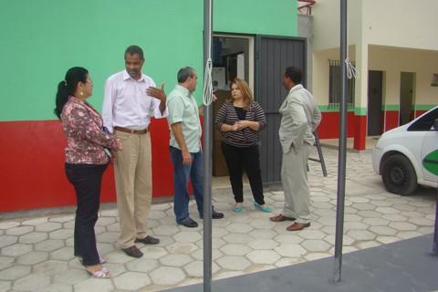 O gerente da instituição prisional, Glauco Roberto dos Santos, mostrou o espaço aos integrantes dos órgãos engajados na causa.