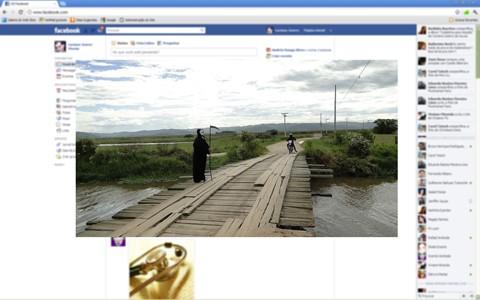 """Seguidos acidentes na ponte de Jabutibeira, em Jaguaruna, foi assunto, inclusive, nas redes sociais. Na montagem, internautas colocaram a """"morte"""" em cima da travessia como forma de protestar para as condições precárias e da falta de sinalização do local"""