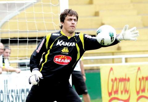 Michel Alves será o camisa 1 do Tigre no jogo de hoje  - Foto:Fernando Ribeiro/Criciúma E.C./Notisul