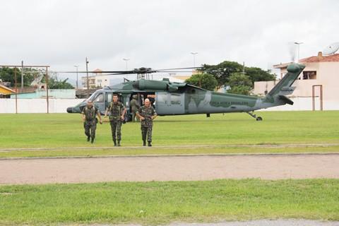 Os militares estiveram ontem em Tubarão para fazer o reconhecimento das áreas em que ocorrerão os treinamentos.