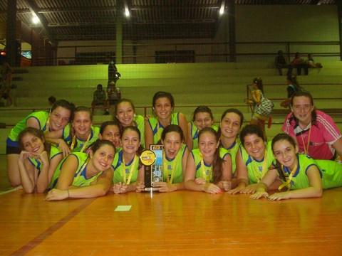 Meninas da ETCT são as atuais campeãs da categoria cadete.
