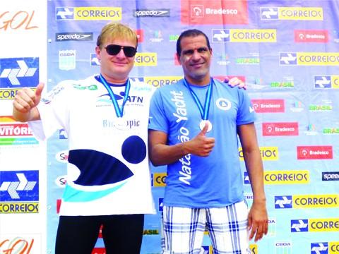 Aires (esquerda) conquistou a sua terceira medalha de prata no ano