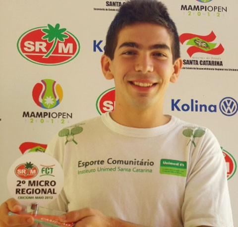 Marcelo foi campeão em Criciúma, no último fim de semana   -  Foto:JB Guedes/Divulgação/Notisul