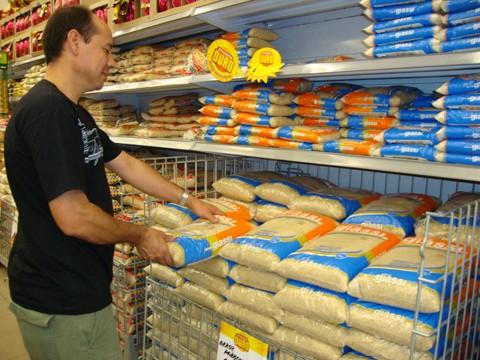 O arroz foi o segunfo produto da cesta básica que apresentou maior variação