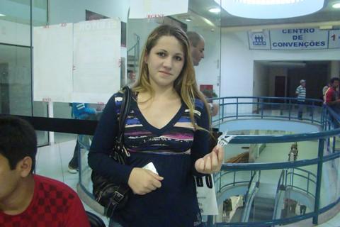 A costureira Jéssica Mendes da Silva, de Gravatal, esperou mais de duas horas para poder fazer o primeiro título de eleitor