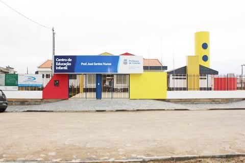 Nova escola tem capacidade para atender 140 crianças em período integral   -   Foto:Cristiano Soares/Prefeitura de Tubarão/Notisul