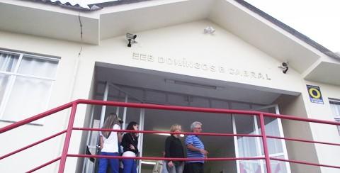 Escola é a única totalmente climatizada da região  -  Foto:Cida Vichiet/SDR Laguna/Notisul