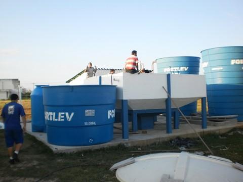 Os trabalhos de construção da Estação de Tratamento de Água do porto de Laguna estão na fase final de obras  -  Foto:Denise Pegorara/Porto de Laguna/Notisul