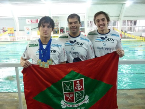 Thales e Lucas representaram a ATN na competição   -  Foto:ATN