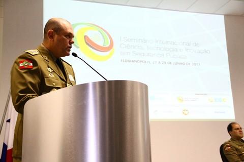 Marcineiro palestrou sobre o modelo de gestão da Polícia Militar em Santa Catarina