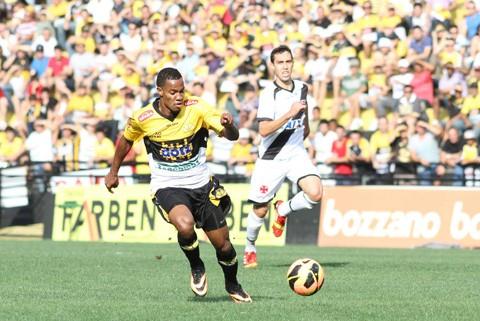 O Tigre conquistou mais três pontos em cima do Vasco. A partida foi disputada e terminou em 3 a 2 para a equipe de Criciúma. Foto: Fernando Ribeiro/www.criciumaec.com.br/Divulgação/Notisul
