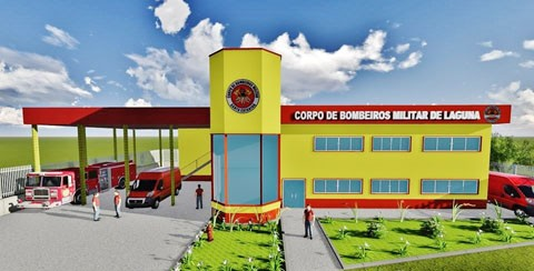 O novo espaço será construído ao lado do posto da Polícia Militar na SC-346, no bairro Portinho  -  Foto:Prefeitura de Laguna/Divulgação/Notisul