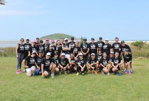 Aproximadamente 30 atletas participaram do percurso em Imbituba  -  Foto:KBS Assessoria/Divulgação/Notisul