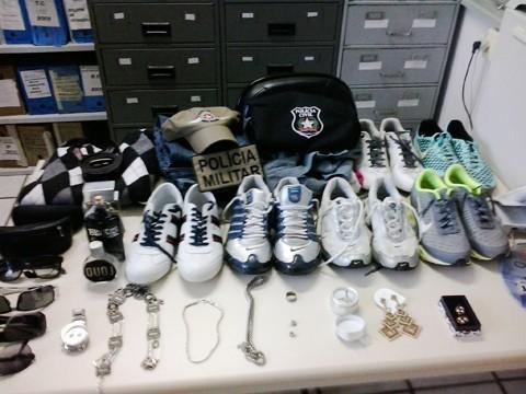O mandado de busca e apreensão foi cumprido na casa do ladrão, onde havia diversos objetos furtados   -  Foto:Polícia Civil de Grão-Pará /Divulgação/Notisul