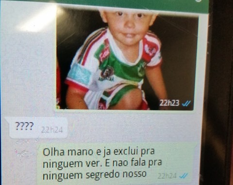 No celular o delegado encontrou uma conversa via aplicativo onde o suspeito confessa ter atropelado o menino  -  Foto:Polícia Civil de Laguna/Divulgação/Notisul