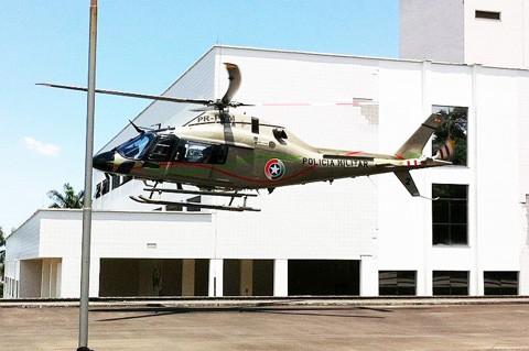 O recém-nascido foi transportado pelo helicóptero de Imbituba para ao Hospital Materno Infantil de Santa Catarina, em Criciúma - Foto: Nei Manique/Engeplus/Notisul