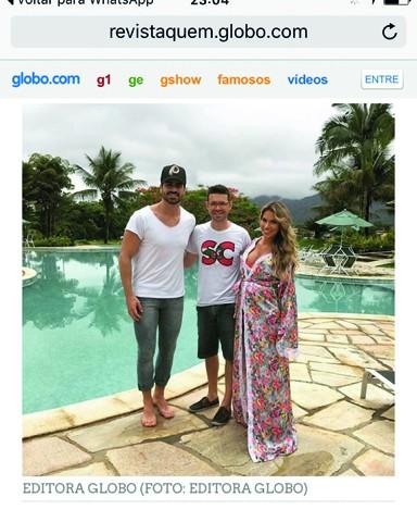 Davi Nascimento (C) esteve no Rio de Janeiro para fotografar o casal de ex-BBB Adriana e Rodrigão  -  Foto:Rede Globo/Divulgação/Notisul