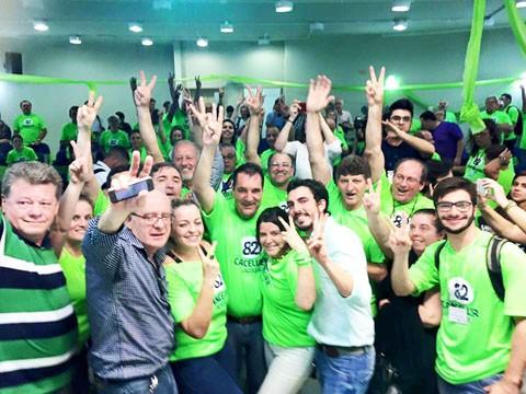 A chapa de Luis Carlos Cancellier venceu com 47,42% dos votos  -  Foto: Júlio Cancellier/Divulgação/Notisul