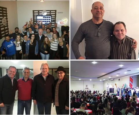 Quatro candidatos têm menos tempo para disputar a preferência de cerca de 65 mil eleitores na Cidade Azul  -  Fotos:Divulgação/Notisul