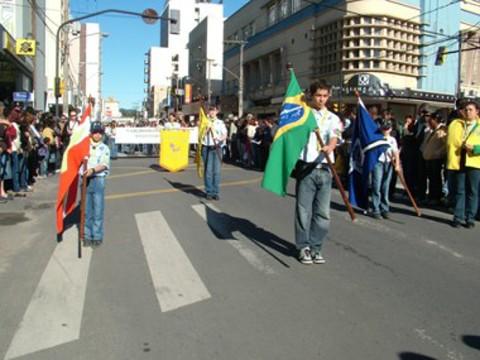 Trajeto do desfile será realizado no sentido Centro  -  Foto:Divulgação/Notisul