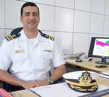Na Marinha do Brasil desde os 17 anos, delegado Marcos Maia comanda uma região com 53 municípios. Foto: Kalil de Oliveira/Notisul.