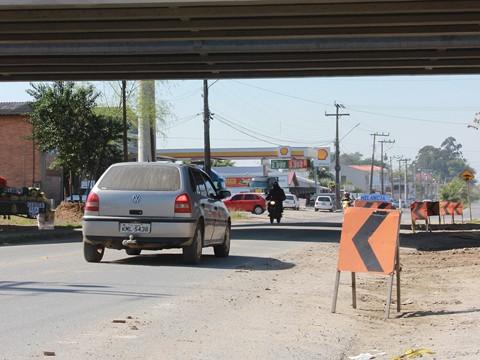 Motorista deve ter cuidado com a sinalização, que é provisória  -  Foto:Divulgação/Notisul